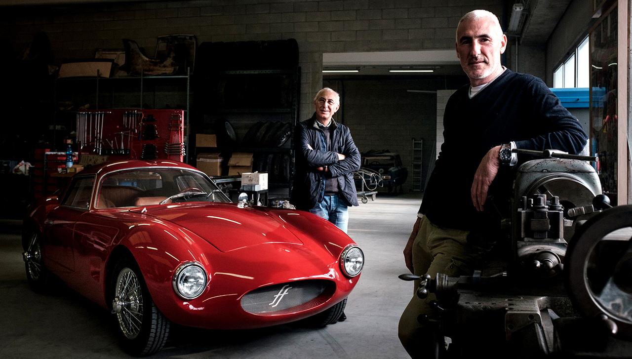 rote Effeffe Berlinetta, die Brüder Leonardo und Vittorio Frigerio