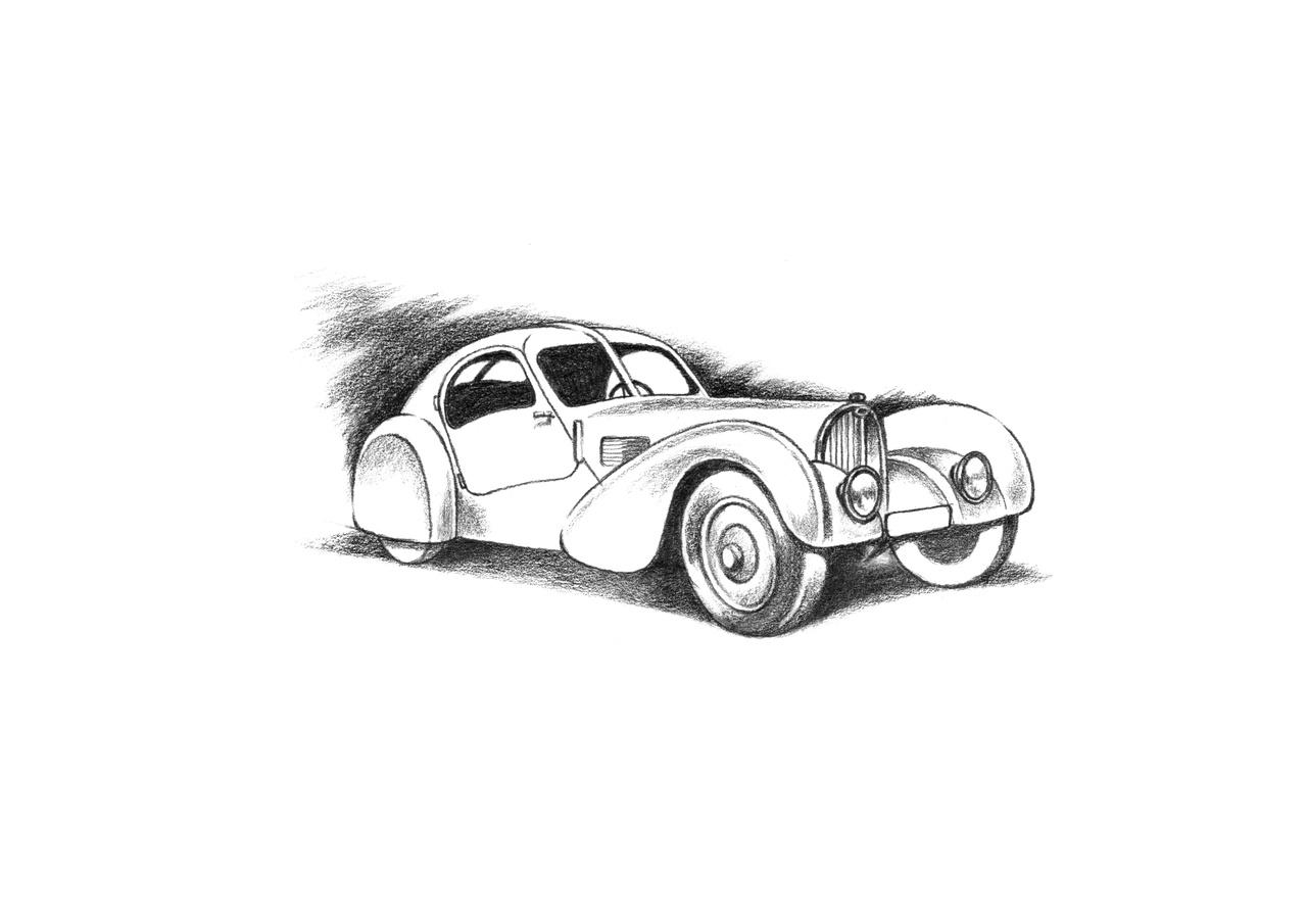 """""""der legendäre atlantic"""" von Bugatti"""