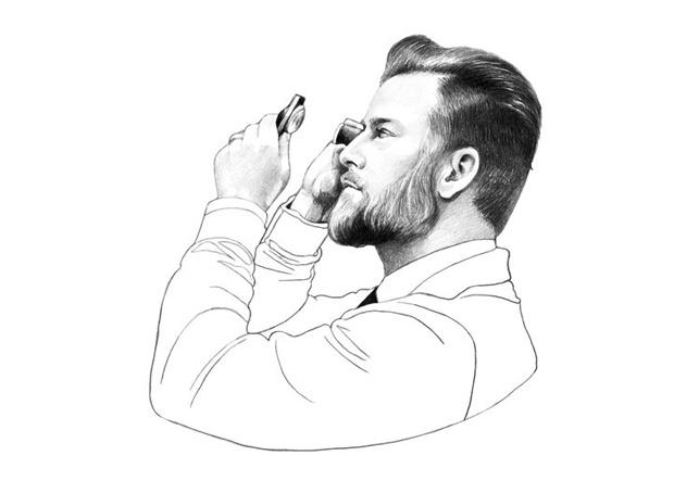 Zeichnung von Robb Reports Chefredakteur Joern Kengelbach