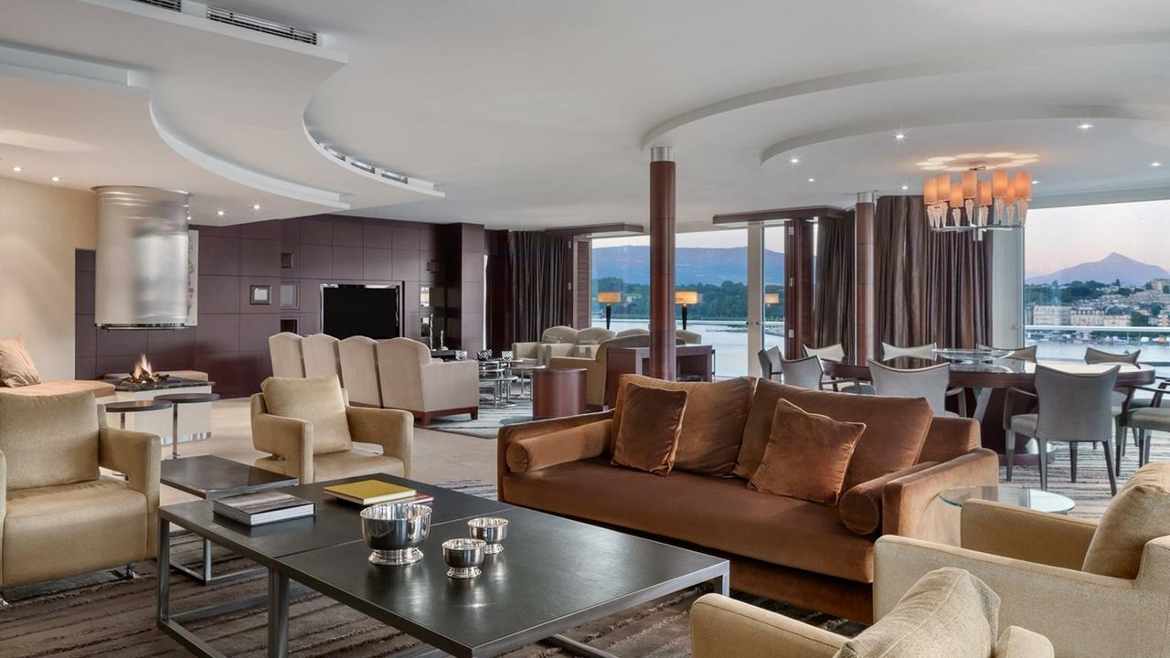Grand-Hotel-Kempinski, Geneva Suite, Wohnzimmer