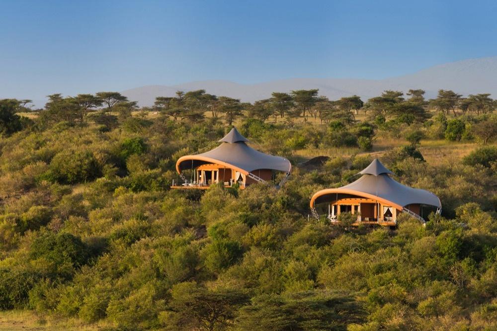 Campinghütten des Mahali Mzuri