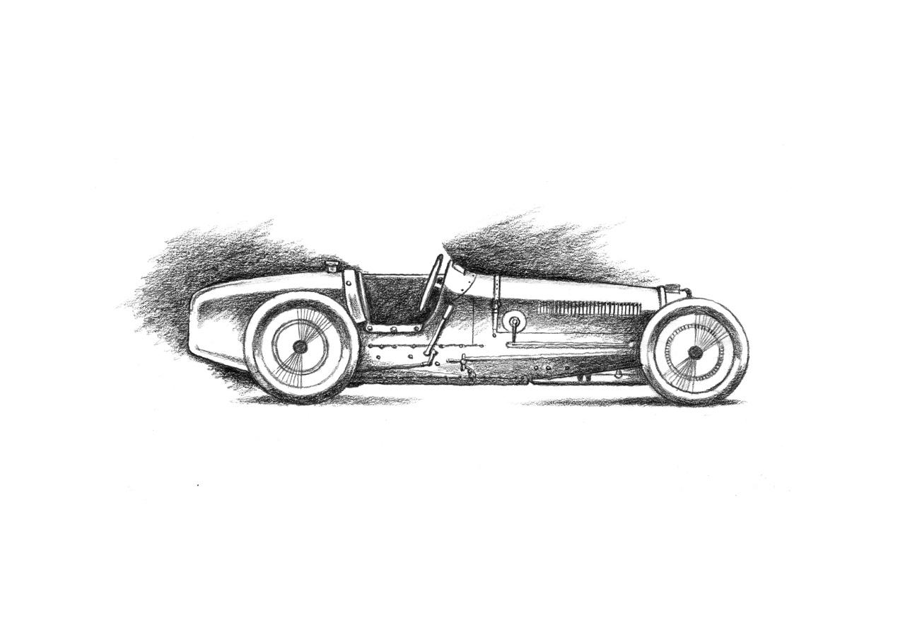 der letzte grandprixwagen von Bugatti