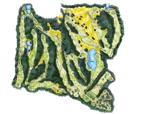 Golfcourse Bluejack Tiger Woods