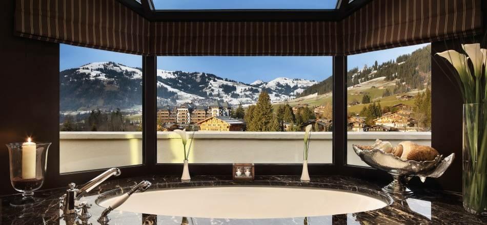 Gstaad-Palace, Luxushotel, Ausblick, Bern