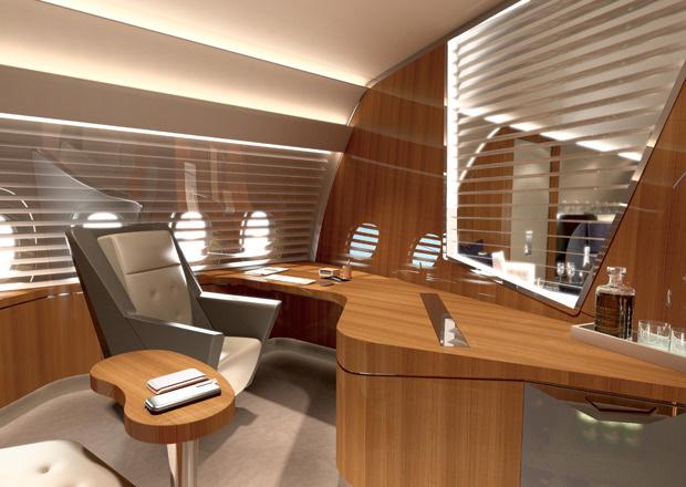 A350 VIP-Kabine, VIP-Kabine, VIP-Flieger, Lufthansa Technik, Büro