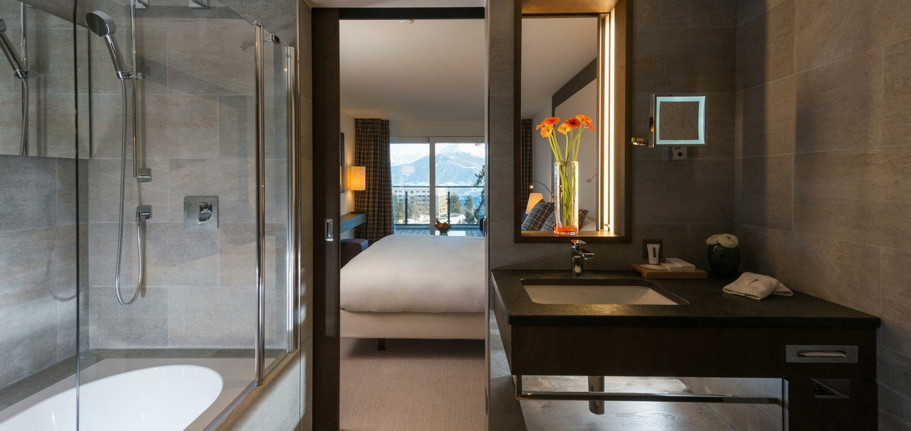 Crans-Ambassador-Hotel, Schweiz, Badezimmer