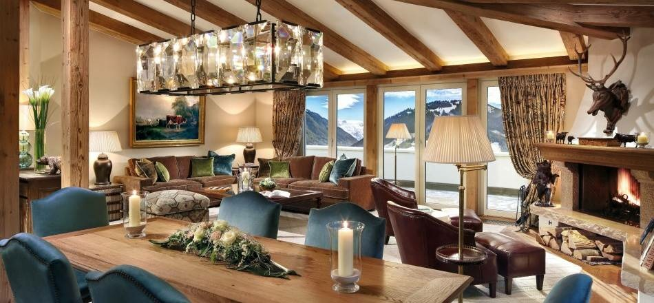 Gstaad-Palace, Luxushotel, Lounge, Bern