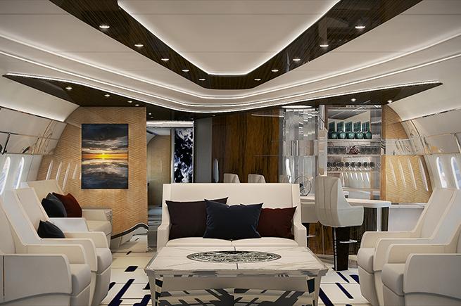VIP Lounge im Privatjet
