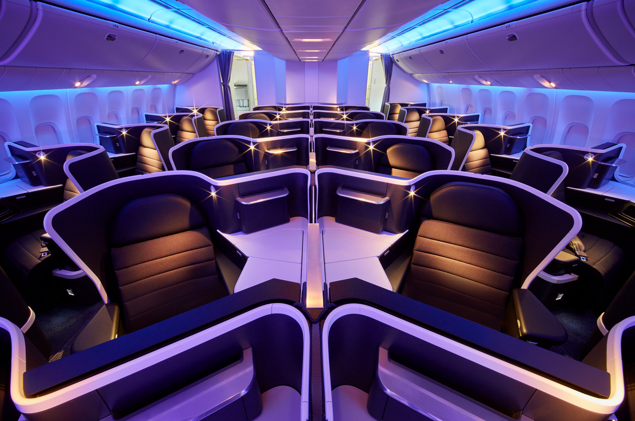 Kabine Business Class von Virgin Australia