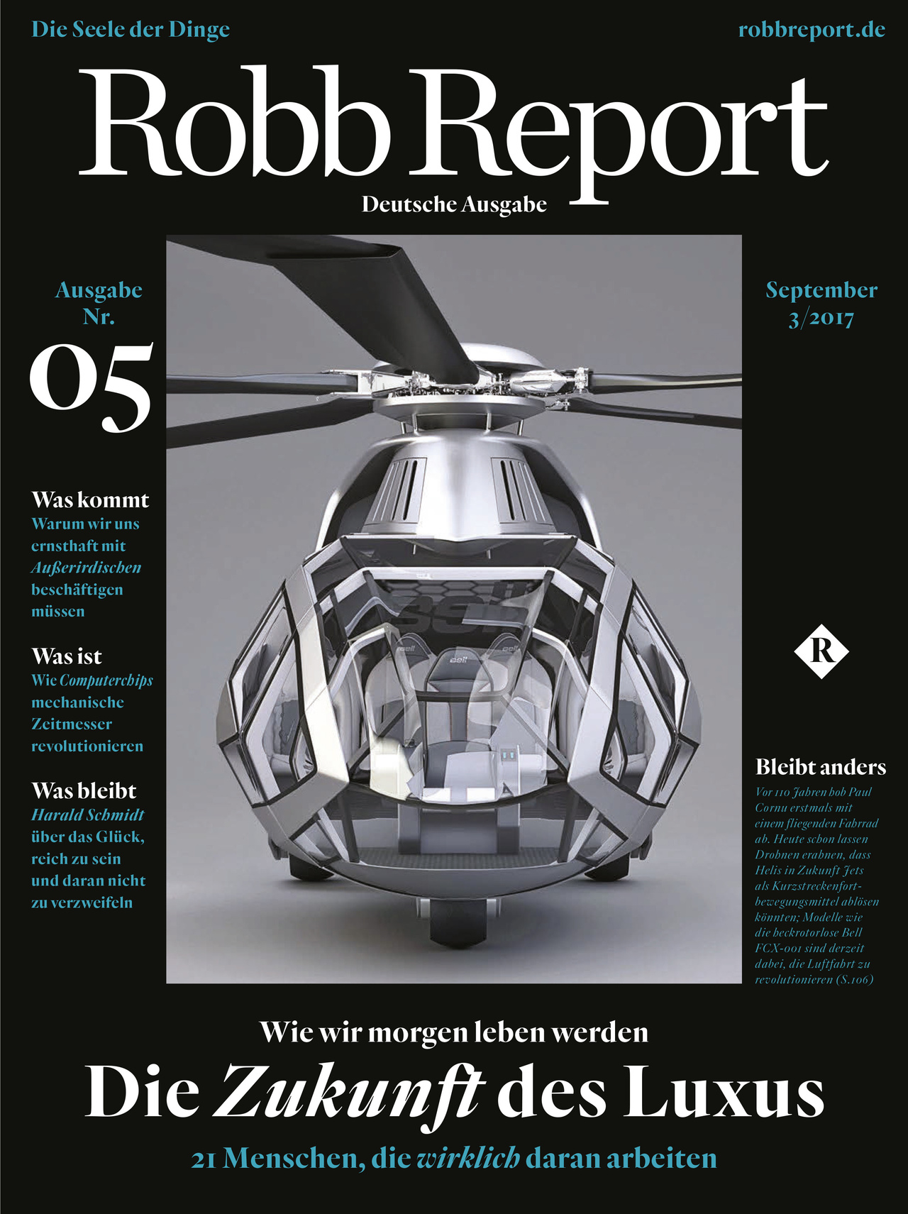 Robb Report Cover Ausgabe 05/2017
