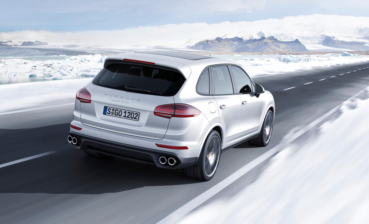Porsche-Cayenne-Turbo-S, Heckansicht