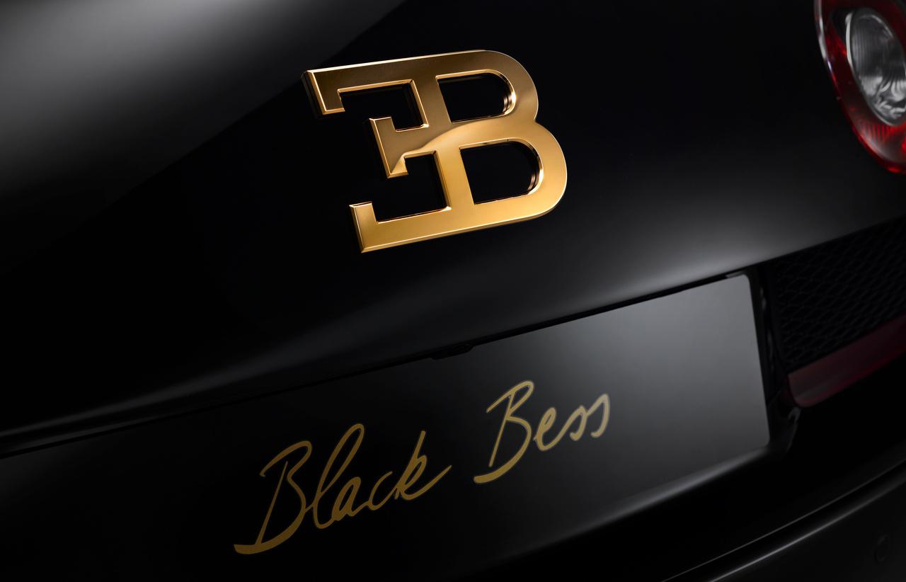 schwarzer Bugatti Veyron Grand Sport