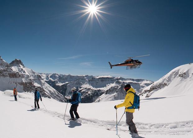 Ski-Abenteuer mit dem Helikopter