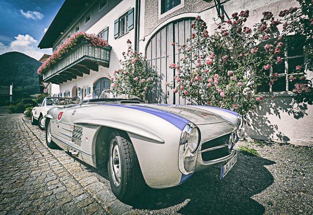 Mercedes SL Pagode, SLS 1958, Alpen-Rallye Boliden