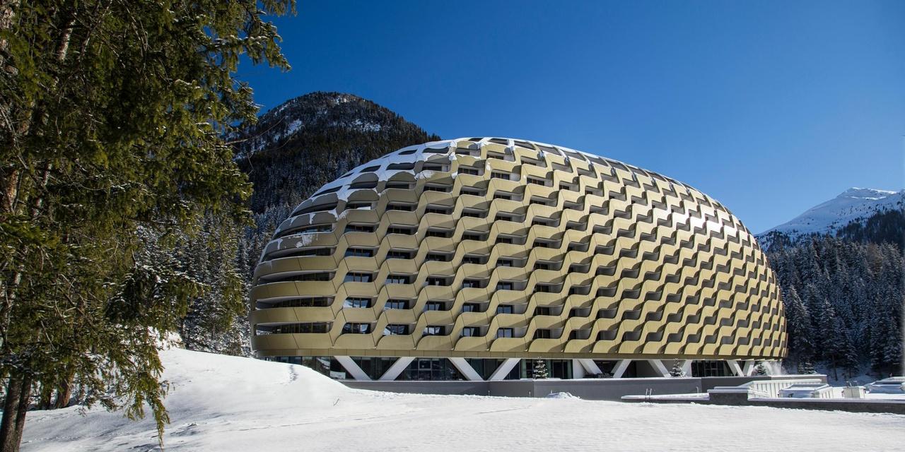 Intercontinental-Davos, Außenansicht, Schweiz, das Goldene Ei
