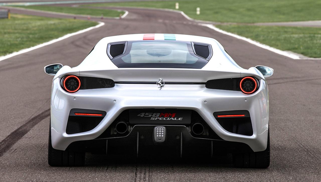 Heckansicht des Ferrari 458 MM Speciale