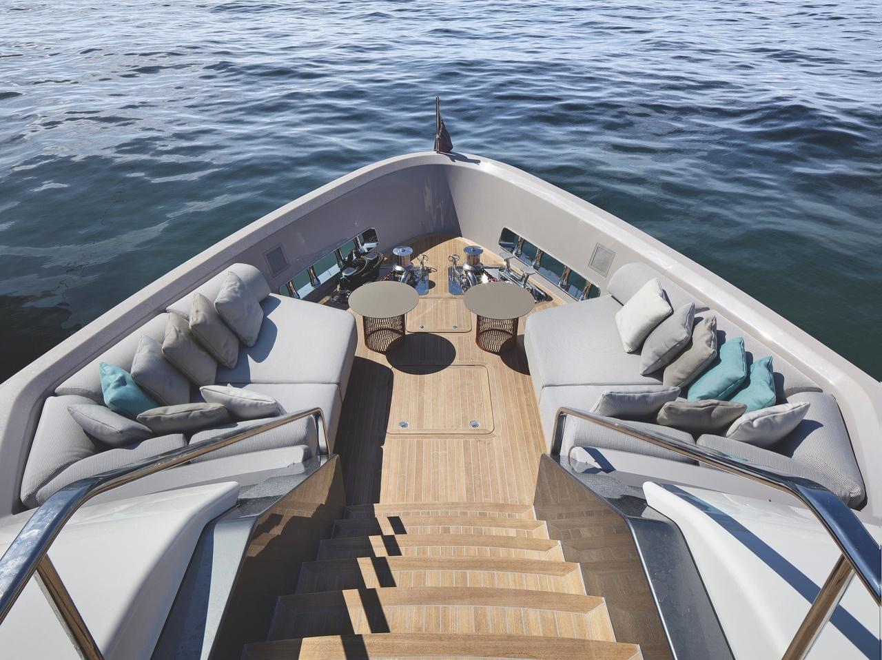 Sanlorenzo Yacht Außendeck