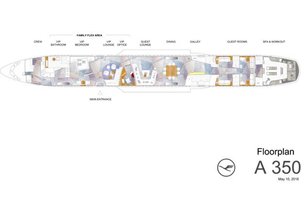 A350-VIP-Kabine, Lufthansa Technik, VIP-Kabine, VIP-Flieger