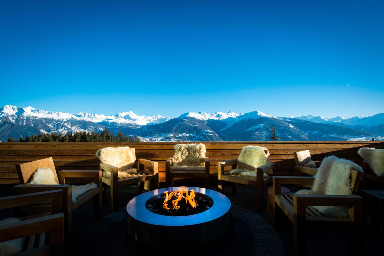 Crans-Ambassador-Hotel, Schweiz, Terrasse
