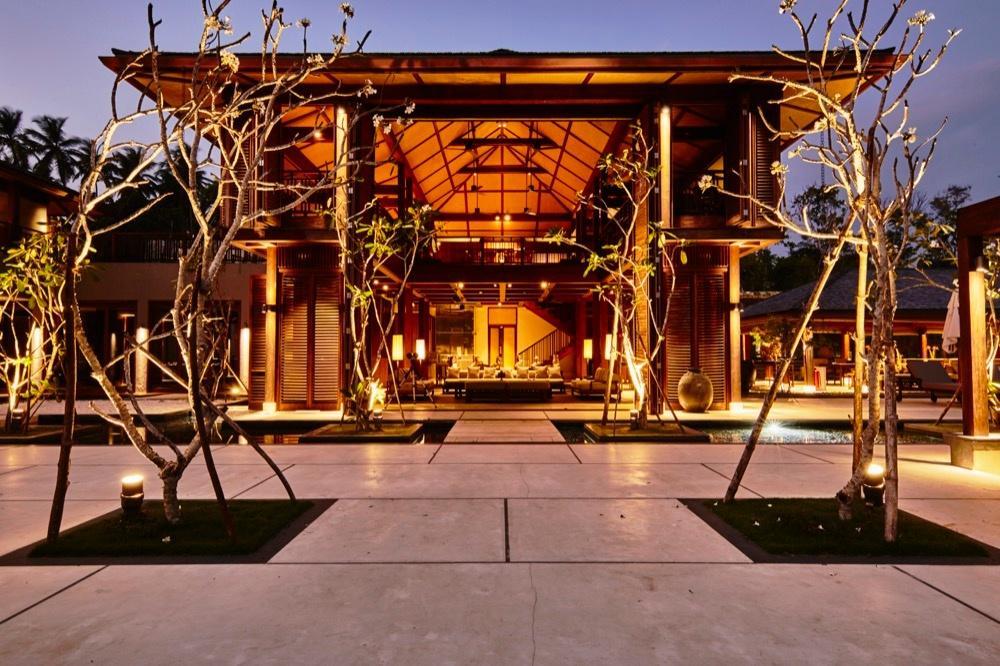 Blick in die Villa Monara