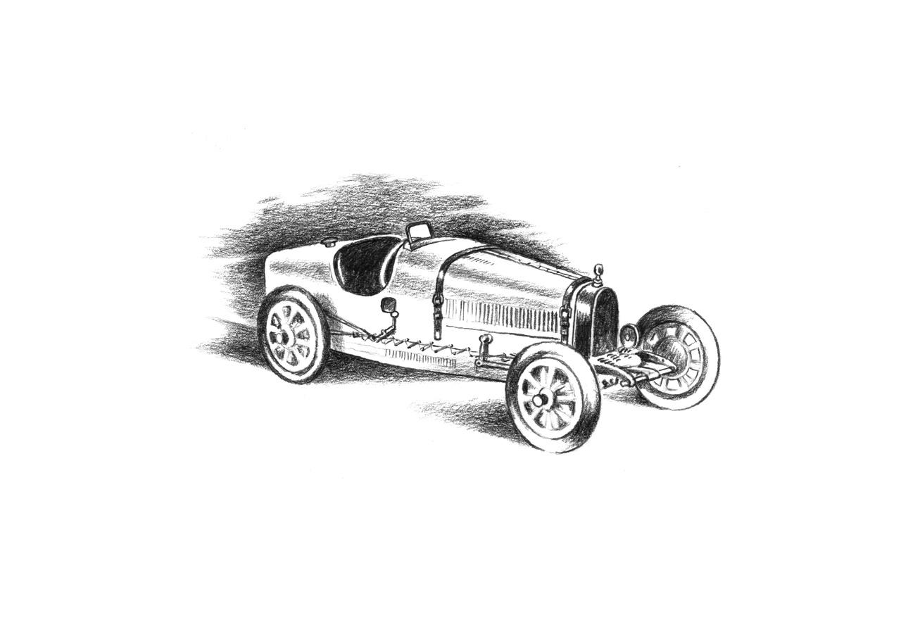 Rennwagen Grandprix von Bugatti